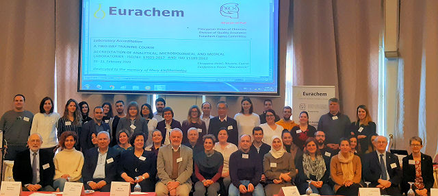Participants at the Eurachem training workshop in Cyprus, Feb 2020